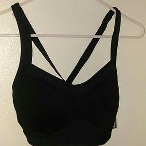 Old navy black sports bra